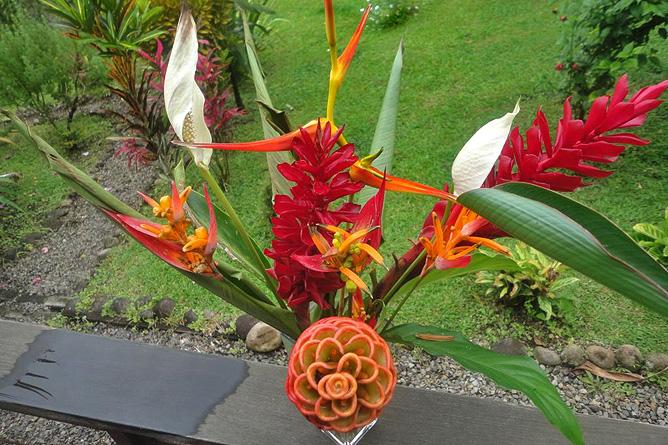 La Ceiba Garten tropische Blumen