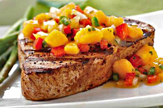 La Ceiba Restaurant Steak mit Früchten