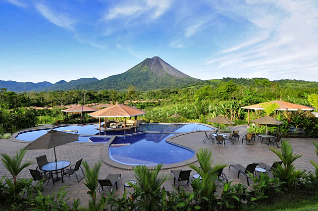 Manoa Arenal Pools und Vulkanpanorama