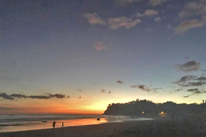 Samara Beach Sonnenuntergang Playa Samara