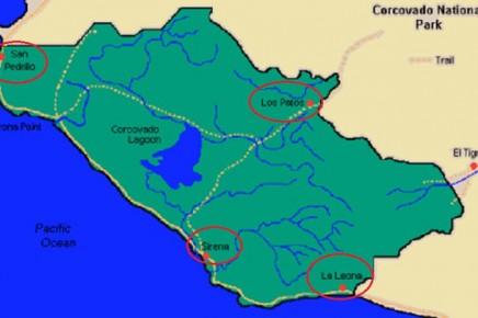 Corcovado Karte_Eingaenge
