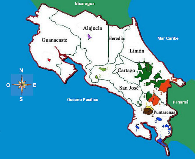 Indigene- Bevölkerung Indianer Reservate Costa Rica