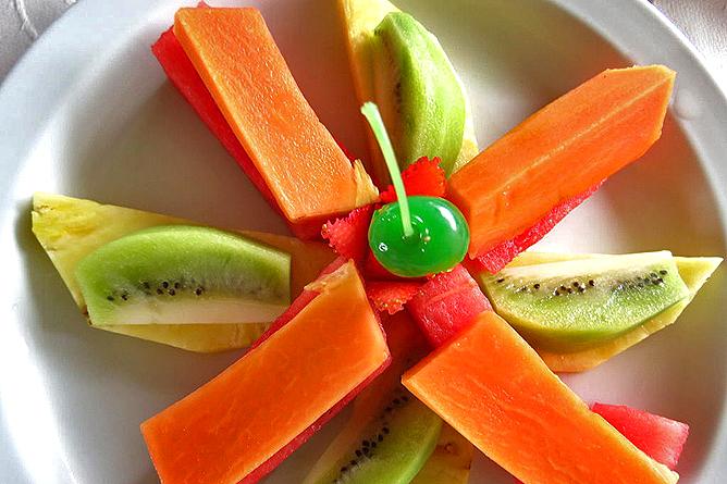 Linda Vista Arenal – Restaurant, Frühstück, Früchte