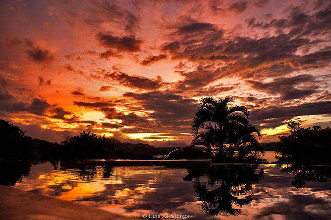 Linda Vista Arenal – Sonnenuntergang, Arenalsee