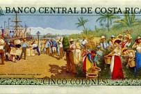 5 Colones Geldschein mit Gemälde von Aleardo Villa