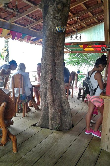 Puerto Viejo Restaurant La Parada kleine Terrasse