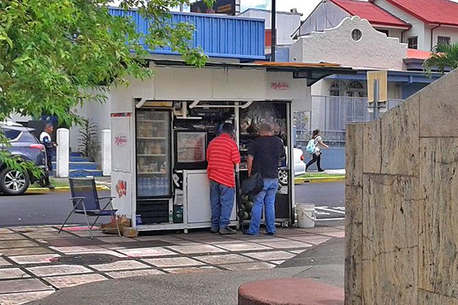 Sodas und Pulperías – Kiosk, Mini-Pulpería in San José