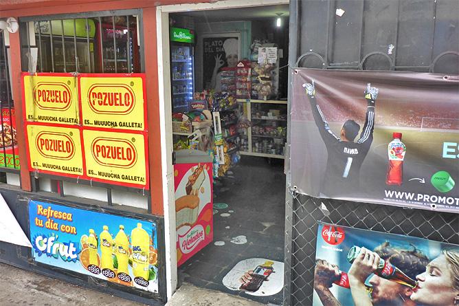 Sodas und Pulperías – Pulpería San José, Eingang