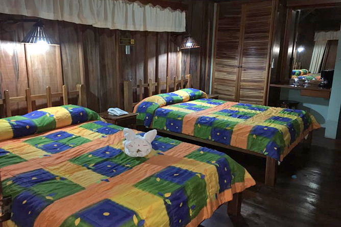 Cabanitas Arenal Junior Suite Queen Betten