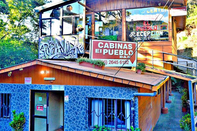 Cabinas El Pueblo Haupthaus Eingang