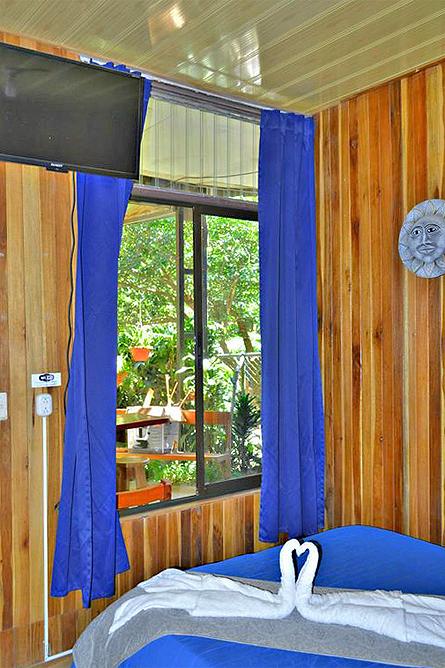Cabinas El Pueblo Standard Zimmer mit Blick in den Innenhof