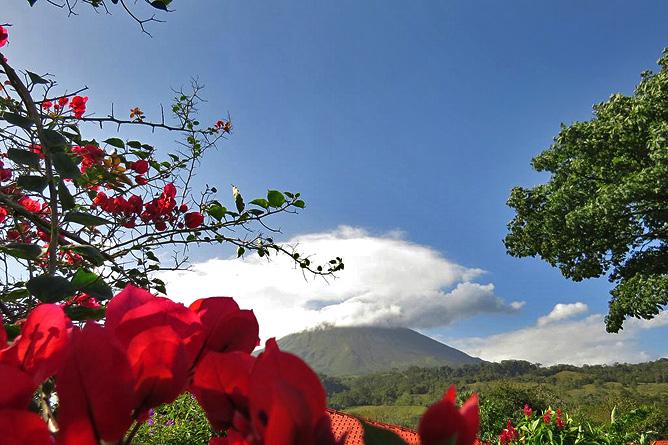 Miradas Arenal Garten und Sicht auf Vulkan