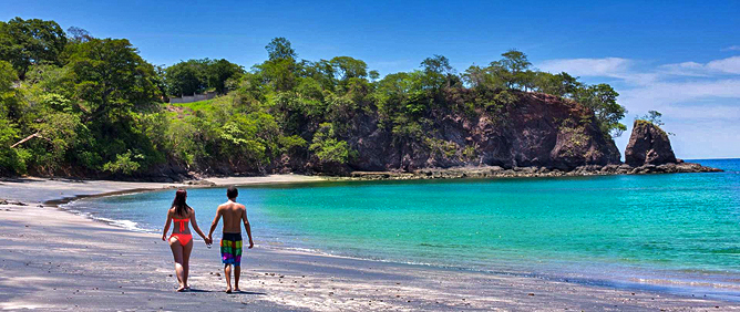 Nordpazifik Küste Flamingo Beach