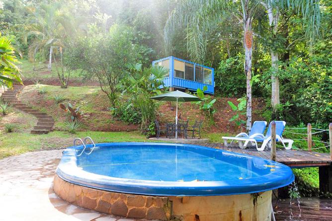 Portasol Rainforest Ocean View Living Bungalows gemeinsamer Pool