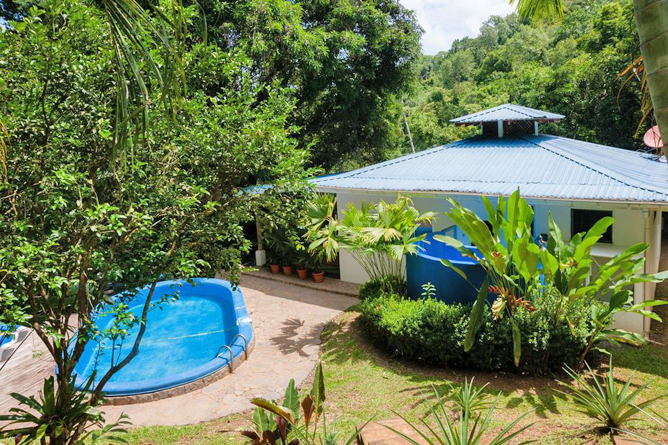 Portasol Rainforest Ocean View Living Casa Cedro Pool