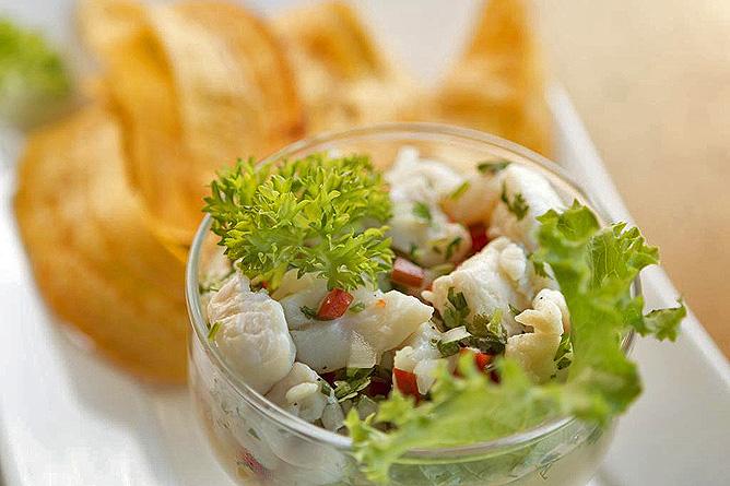 Sueno Azul Restaurant Ceviche mit Fisch