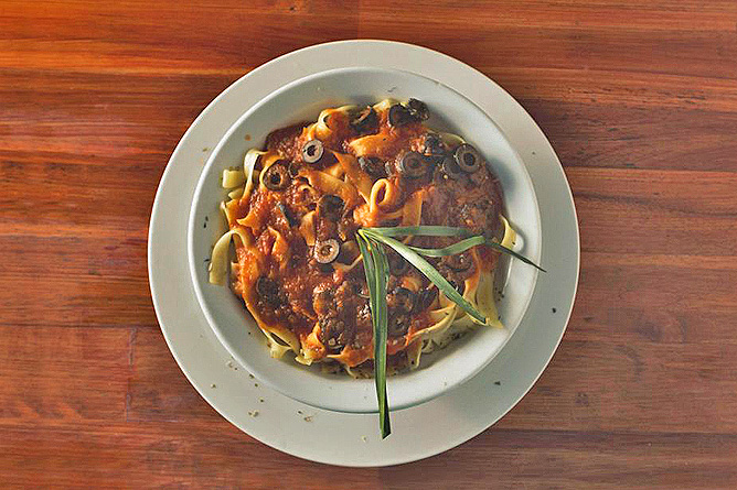 Sueno Azul Restaurant Tagliatelle Gericht