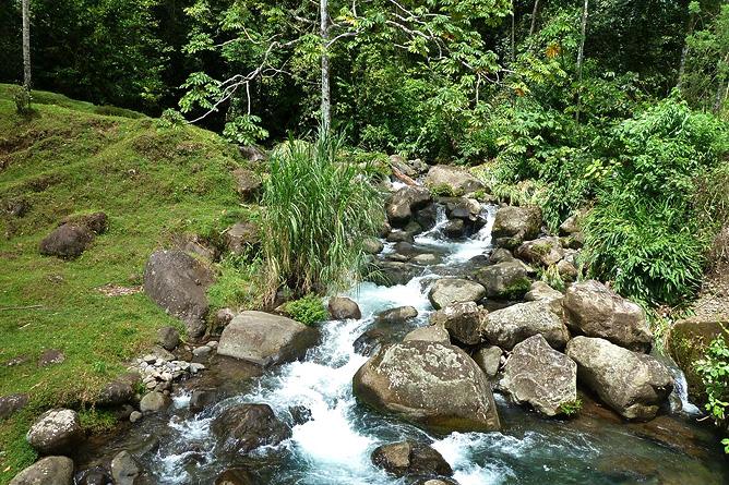 Sueños Celeste Umgebung Flusslauf