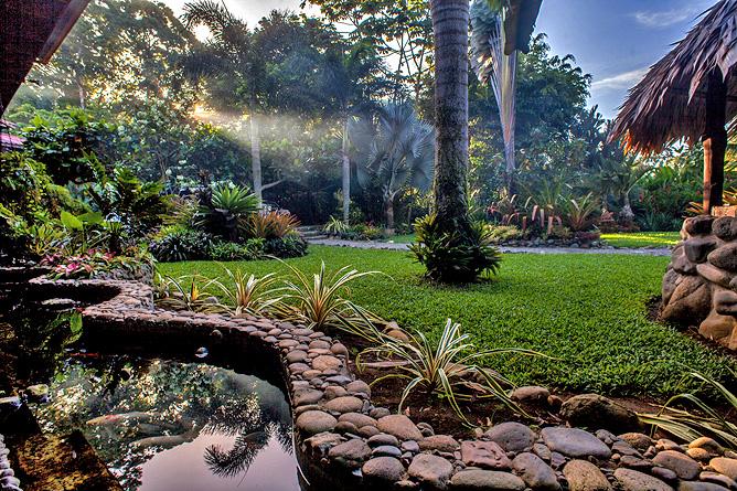 Banana Azul Garten mit Teich