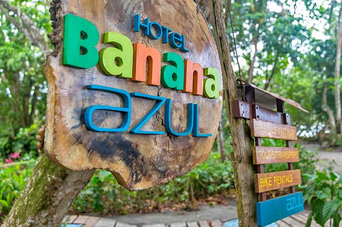 Banana Azul Schild