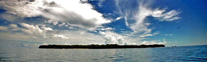 Bocas del Toro Bastimientos Insel Aussicht auf vorgelagerte Insel