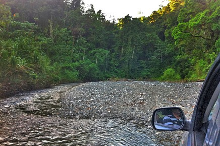 Goldwaschen_Corcovado__Fluss_Eingang Los Patos_Micha 04-2018