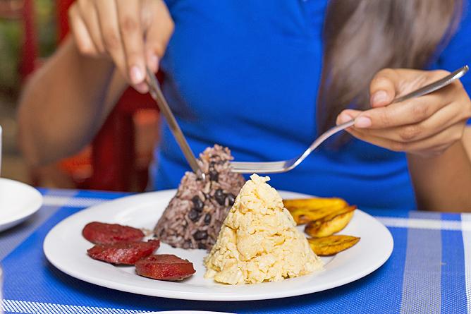 "Las Colinas Restaurant Frühstück ""gallo pinto"""