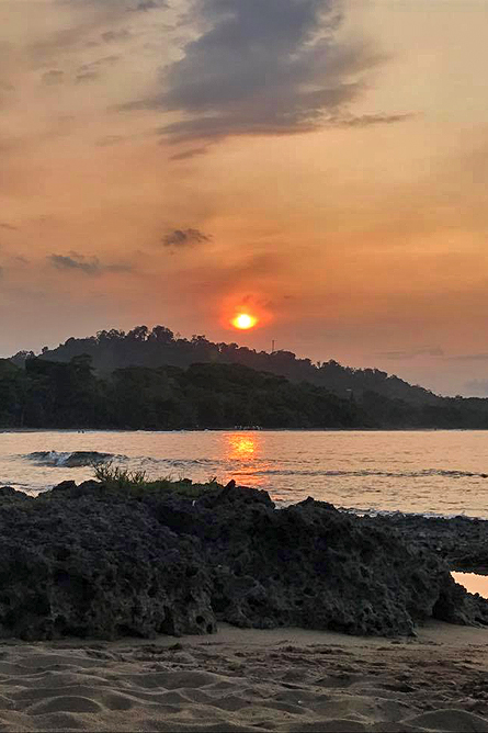 Cahuita Nationalpark Sonnenuntergang