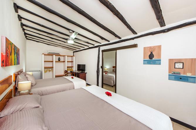 Hacienda JJ Familien Zimmer mit King Bett