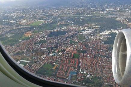 Flug Frankfurt - San José_Foto Christine 10-2017