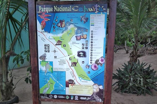 Cahuita Nationalpark Eingang