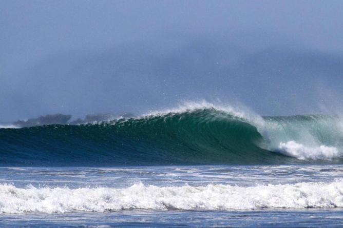 Olas Verdes Playa Guiones Surfer Wellen
