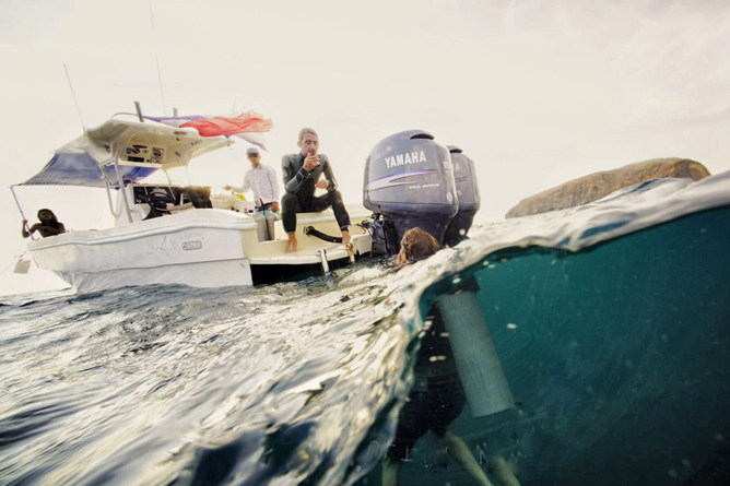 Tauchen Murcielago Inseln Crew