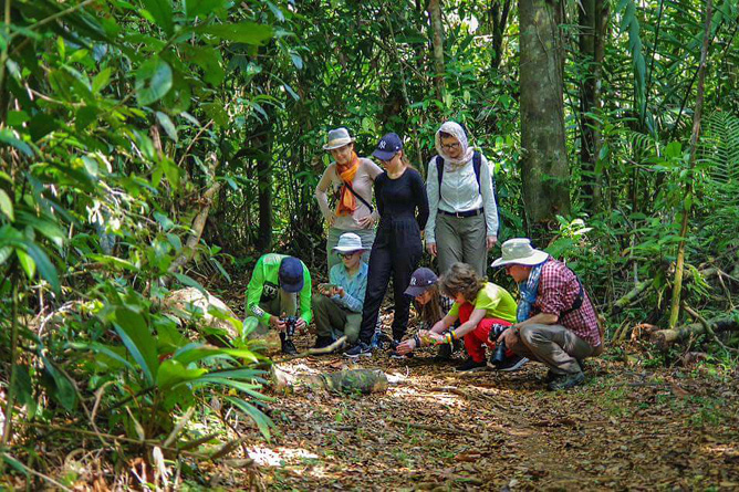 Pedacito de Cielo_Regenwaldwanderung_Reservat Camino de San Juan_09-2018
