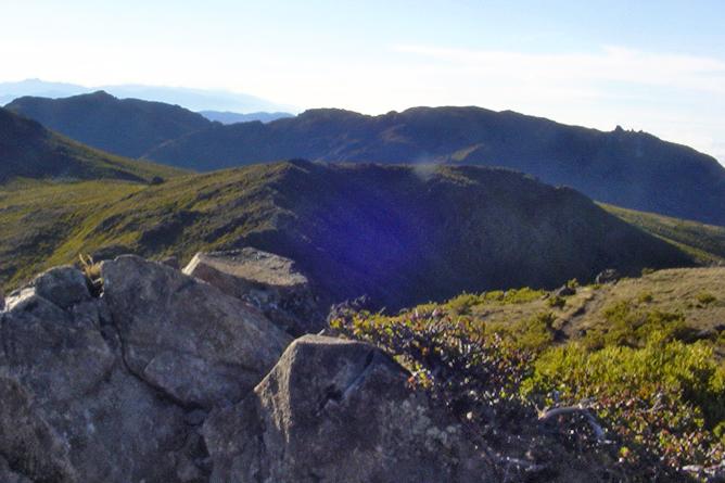 El Pelicano Chirripó Nationalpark Ausblick vom Gipfel