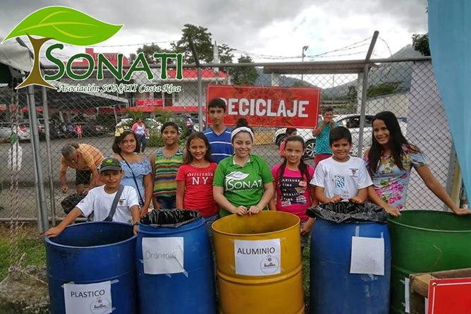 Sonati Recycling-Projekt mit Schülern