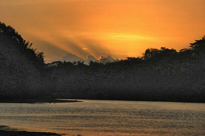Cuyito Abendstimmung am Fluss San Carlos