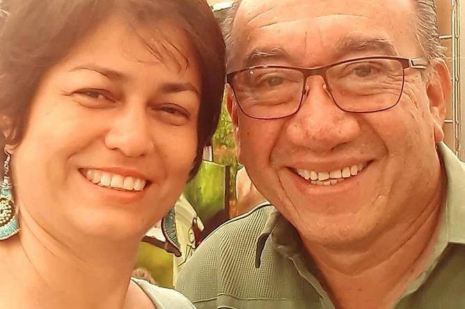 Heidy Jaen Porras mit Professor