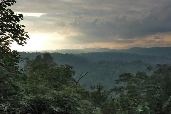 Osa Wild Nationalpark-Corcovado Ansicht vom Hügel