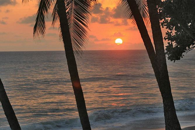 Osa Wild Nationalpark-Corcovado Sirena Strand Sonnenuntergang