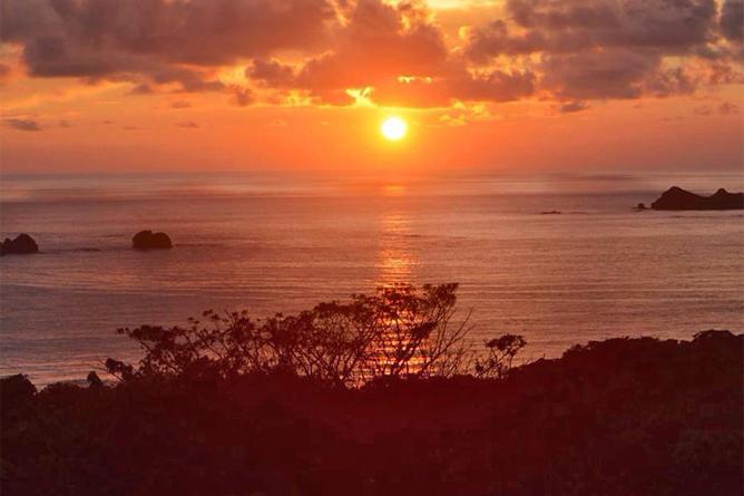 Bahia Aventuras Nationalpark Ballena Sonnenuntergang