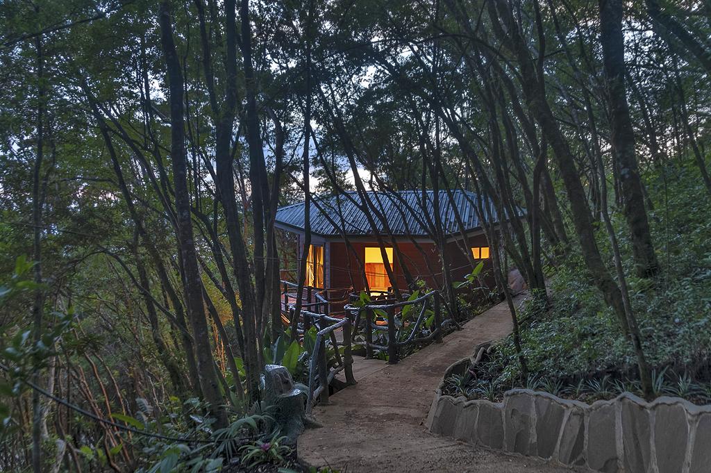 Aguti Hotel – Zugang zum Bungalow