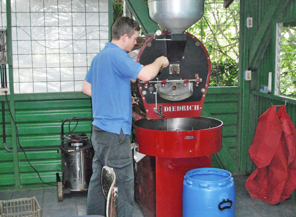 Café Cristina Bio-Kaffee Finca in Orosi – Coffee Tour: Röster