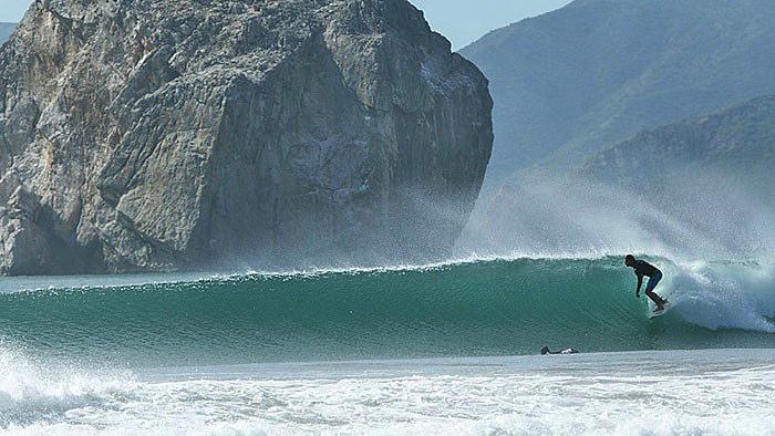 Surf-Strand in der Pazifikregion von Costa Rica