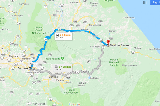 Siquirres Straßenbau Route 32 Blog 04-2019