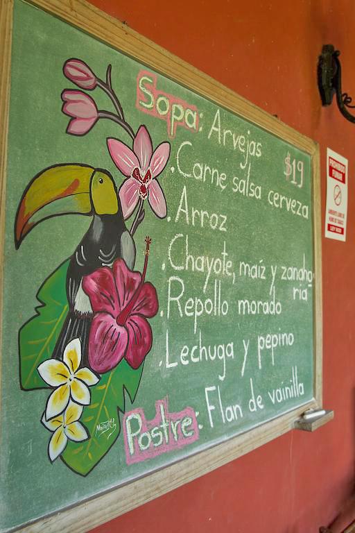 Aroma de Campo Restaurant Menue